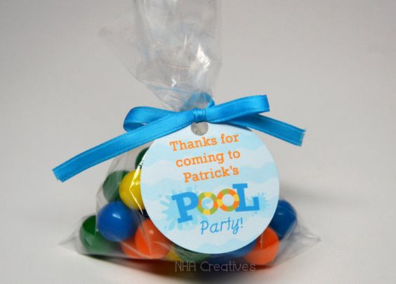 Personalized Pool Party Favor Tag - Personalized DIY Printable ...