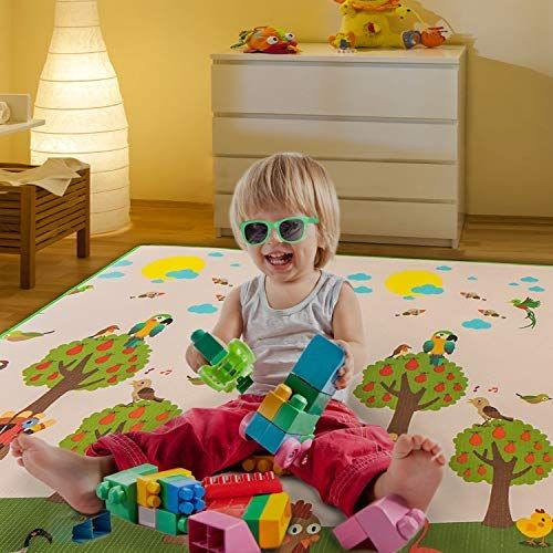 Outroad Non Toxic Baby Play Mat For Crawling Crawling Mat For Toddlers Nursery Rug Game Mat Double Sides Kids Play Ar Kids Play Area Baby Gym Mat Baby Play Mat