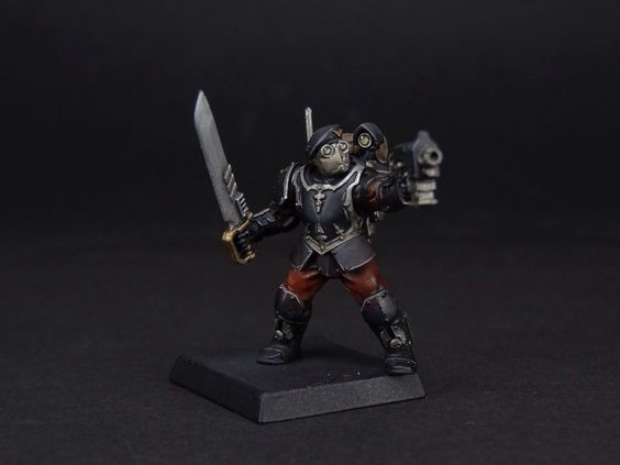Vostroyan Scions: Helghast Scion. Sort Of, Needs Glowing Eyes And Darker