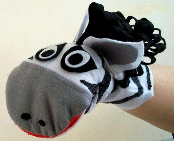 Fantoche Zebra com boca articulável