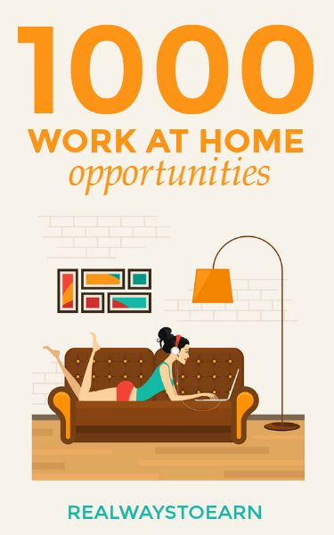 I have 1000 work at home and extra cash opportunities listed inside the massive work  at home job directory. This has been a work in progress for about five years.
