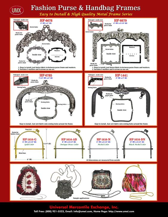Image detail for -... purse frames, antique purse frames with optional purse chains for