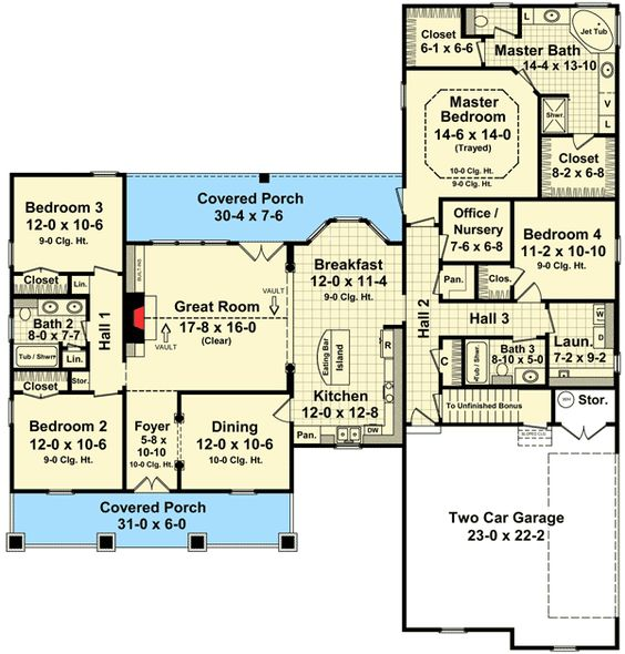 traditional house plans and bonus rooms on pinterest