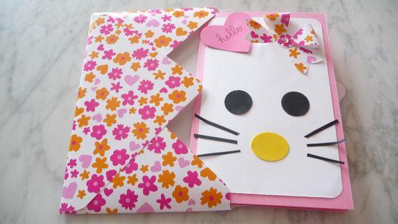 Carte d'anniversaire et son enveloppe assortie pour les 7 ans d'une petite fille le 3 décembre 2015