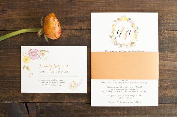 floral frame invitation and rsvp