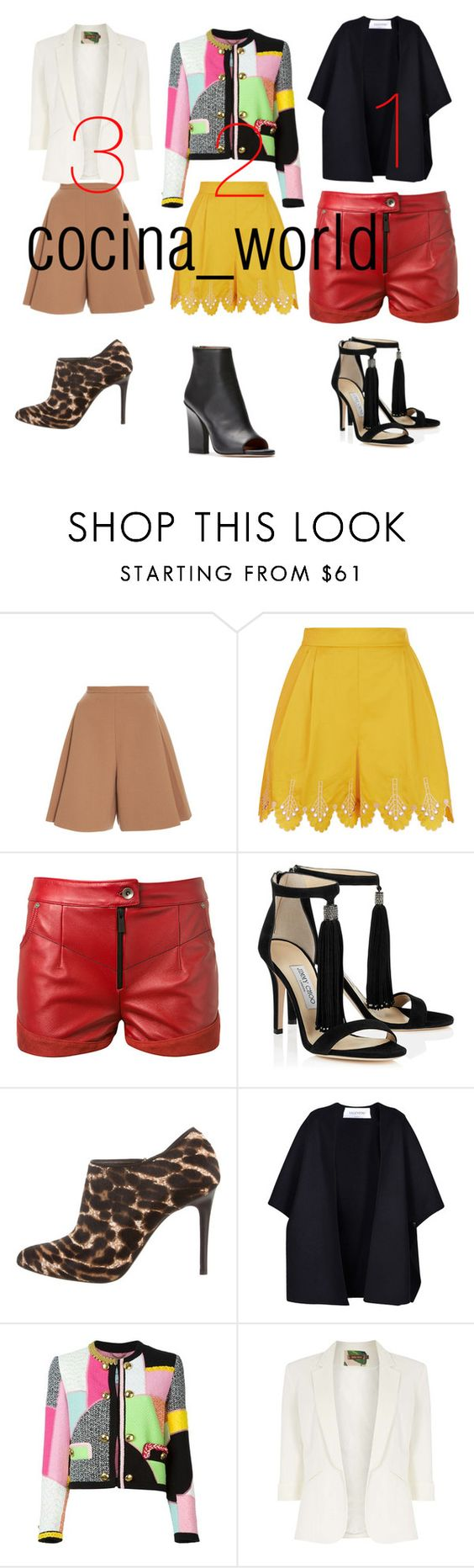"""""""Untitled #141"""" by estabraqx ❤ liked on Polyvore featuring Delpozo, Temperley London, Magda Butrym, Lanvin, Valentino, Moschino and Jolie Moi"""