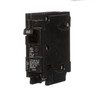 Siemens 60 Amp Single Pole Type Qp Circuit Breaker Circuit Type Amp