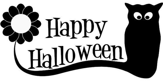Halloween, Happy, Text, Owl, Silhouette, Spooky