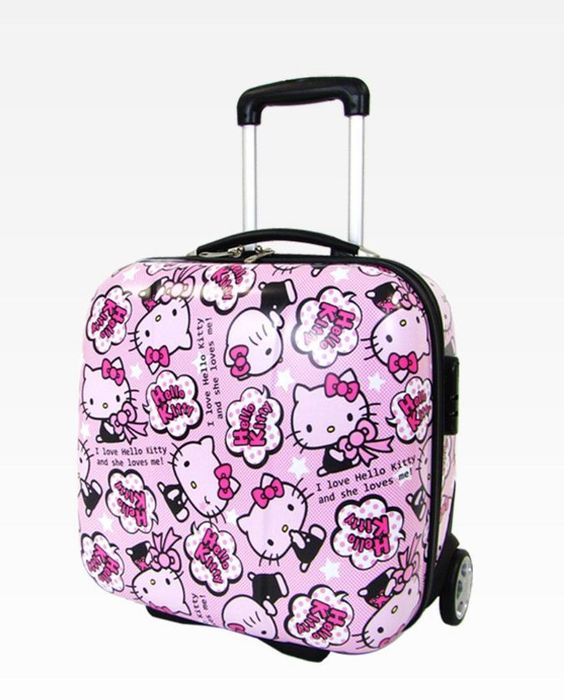 To Do: Plan a mini-break with the #HelloKitty rolling suitcase