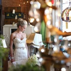 A swoon-worthy Aaron Snow Photography bridal shoot taken in an antique store.