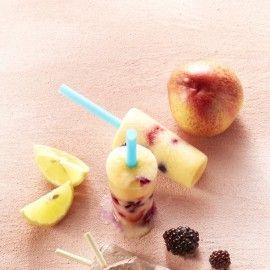 Yoghurtijs perzik-bosvruchten