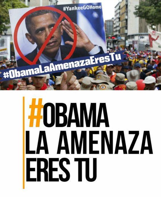 maduro_fr: RT teleSURtv : #ObamaLaAmenazaEresTú | La double morale de BarackObama avec ses sanctions contre le [.. https://t.co/2EPApunkYX