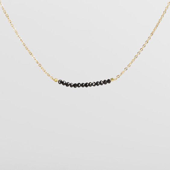 "Collection CRYSTAL necklace ""Black"" #necklace #jewlery #cristal #minimalist #black"