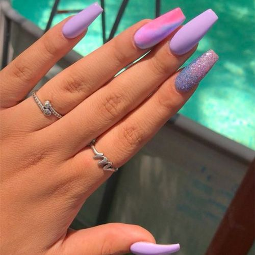 34 Smart Nail Art Designs That Are Off The Chart Smart Nails Fall Acrylic Nails Purple Nails