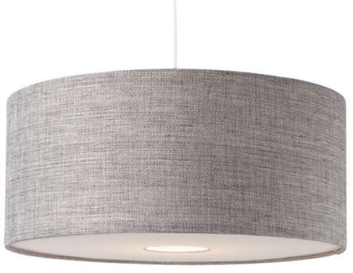 Ceiling Drum Light: BNWT Modern Grey Textured LARGE Drum Diffuser Ceiling Light Shade Pendant  NEW,Lighting