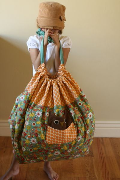 sleep over bag, opens easily and fits a pillow, blanket and pjs @dina Willey ross