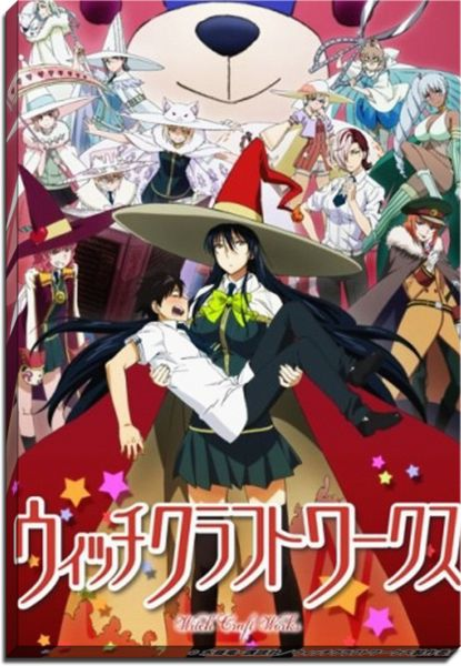 Witch Craft Works Anime Canvas