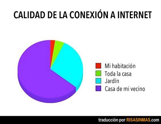 Calidad de la conexión a Internet.