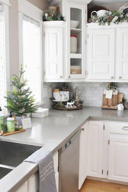 Christmas Kitchen Decor Shabby In Love Kitchen Decor Ideas Christmas Kitchen De Kitchen Counter Decor Decorating Above Kitchen Cabinets Christmas Kitchen Decor