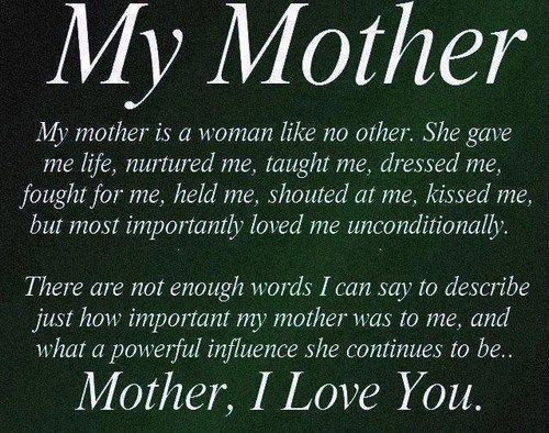128 Of The Most Beautiful Mom Quotes I Love You Message With