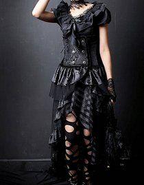 Jupe/serre-taille gothique 'black snake'