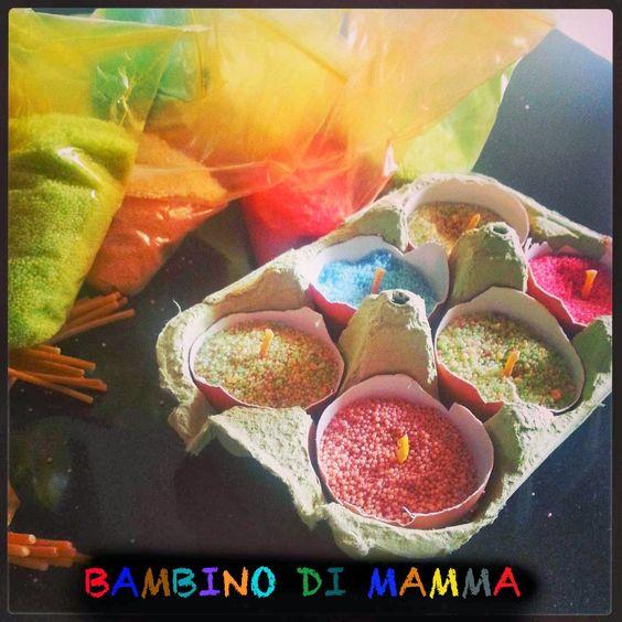 BAMBINO DI MAMMA: CANDELE SU GUSCIO D'UOVO
