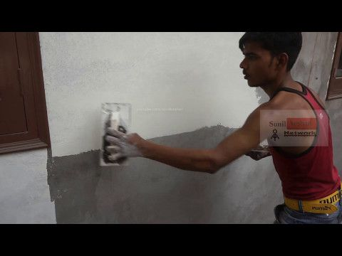 How To Apply Birla White Wallcare Putty On Your Wall Youtube Wall How To Apply Asian Paints