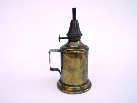 French Brass Lamp Household Mineral French by FrenchMarketFinds, €25.00