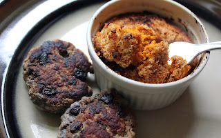 Blueberry breakfast sausage, coconut carrot souffle ~ Stuff I Make My Husband