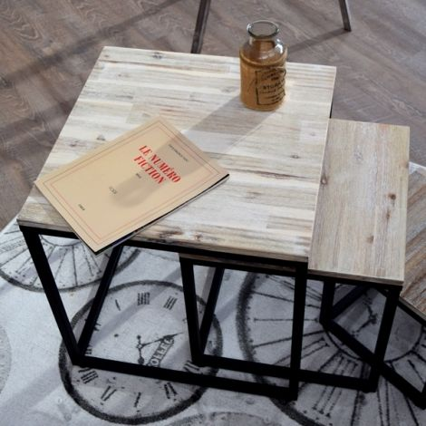 Table basse gigognes vintage