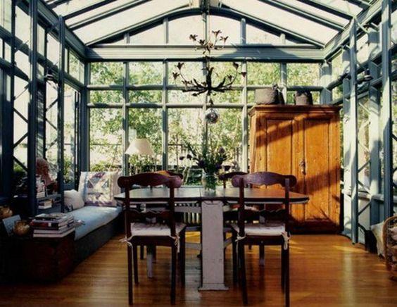 wintergarten design mit teestube in einem modernen stil - 2015-05, Hause und garten