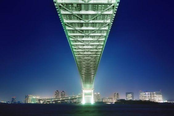 Rainbow bridge in Tokyo