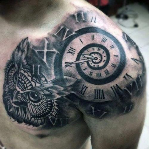Front Shoulder Tattoos Best Shoulder Tattoos For Men Find Cool Shoulder Tattoo Designs And Ideas Left Right Across The Back Full Sleeve Arm Ches Maleri
