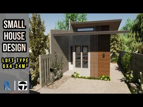 Small House Design L Loft Type House 6x4 Meters 24m Youtube Small House Design House Design Loft House Design