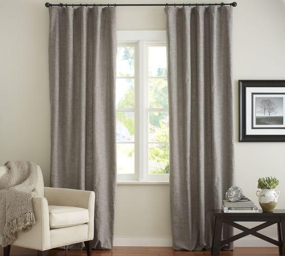 Curtains Ideas curtains double width : Emery Linen/Cotton Drape | Pottery Barn | Curtains | Pinterest ...