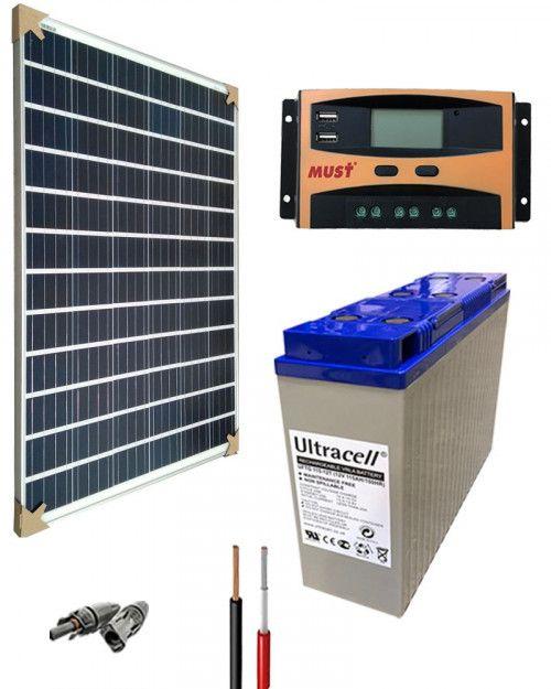 Kit Solar Gel 12v 1000whdia Kit Solar Energia Solar Y Kit
