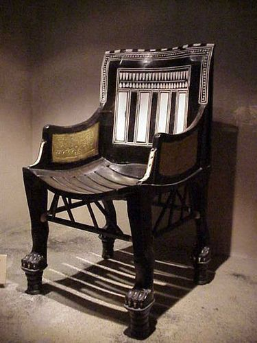 King Tut's chair from his childhood