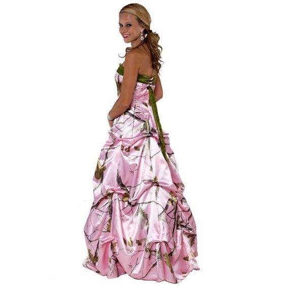 Pink camo prom dress pink/camo/prom/dress  Prom dress ideas ...