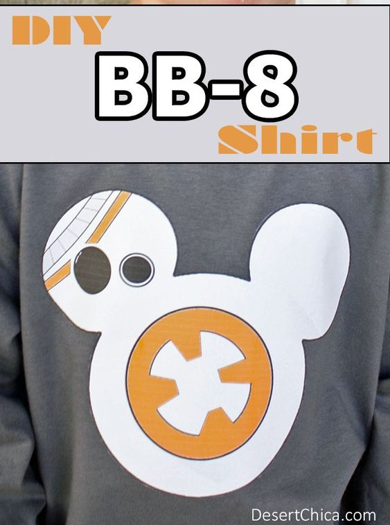Star Wars The Force Awakens BB-8 Shirt with free printable template. #bb-8 #spherobb8 #bb8 #starwars #friki