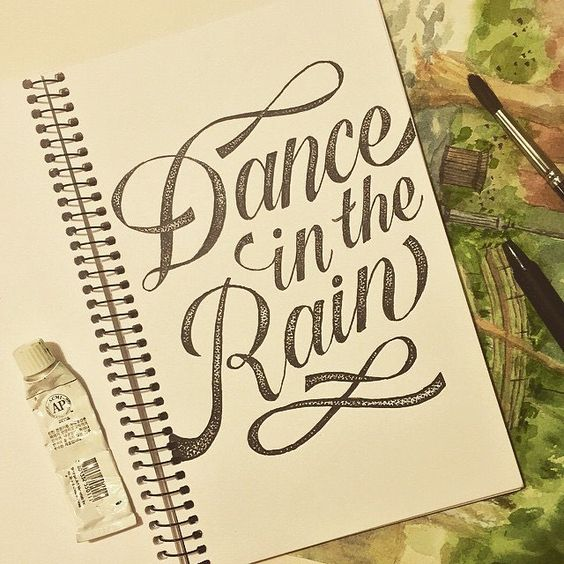 Follow @brush_type @todays_type || Dance In The Rain by: @jollyjiajia || You must be following the account for a repost || #typematters # by type_matters