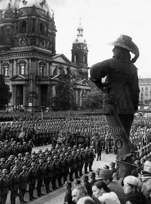 Landespolizeigruppe 'General Göring' bei einer Kundgebung in  Berlin, 01.05.1934