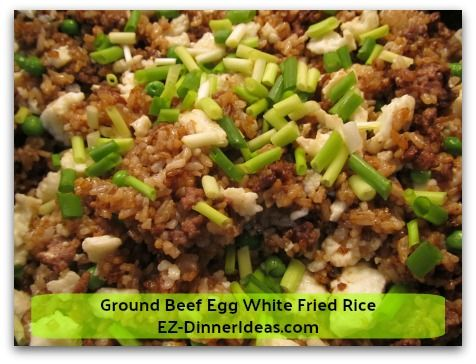 Ground Beef Egg White Fried Rice Fried Rice Asian Recipes Beef Recipes