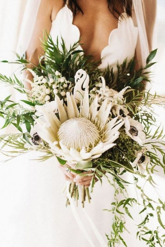 2019 Trending 25 Amazing Proteas Wedding Bouquets Oh Best Day Ever Wedding Bridal Bouquets Minimal Wedding Protea Bouquet