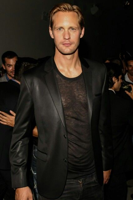 Alexandet Skarsgard NYC sept 13.2013 #holy see through shirt batman!