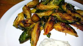 Now You Can Pin It!: Roasted Brussels Sprouts with Lemon and Garlic Aioli