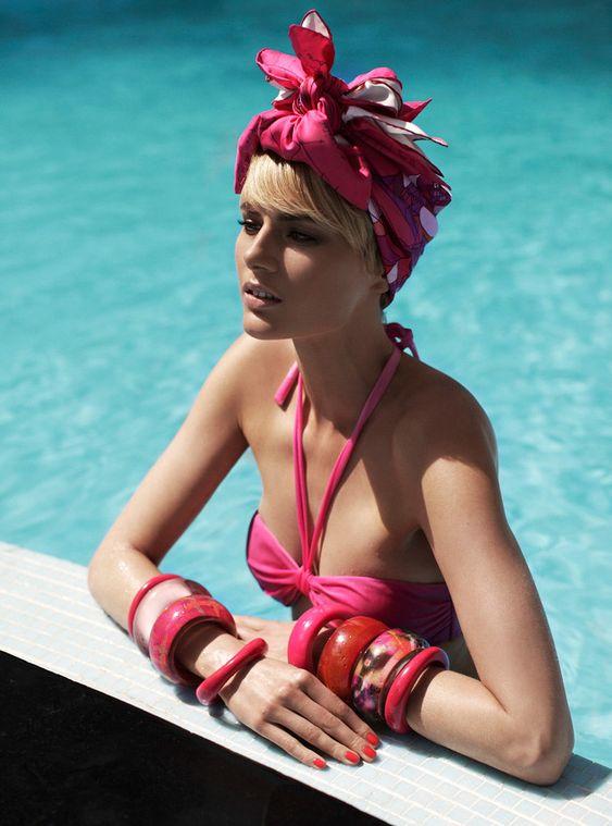 Louise Donegan Goes Poolside in Zoltan Tombors Grazia Italy Shoot