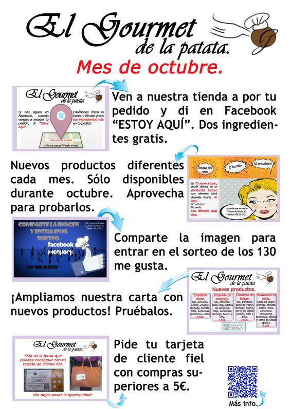 Todas nuestras promociones para el mes de octubre. Disfruta con nosotros del mes 10 ;)