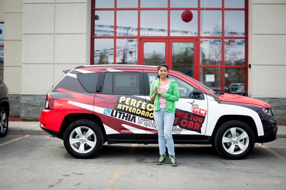 The Drive for Perfect Attendance program is an Anchorage School District School Business Partnership program now in its second year. Local dealership Lithia Chrysler Jeep Dodge of South Anchorage has donated a brand new Jeep to the program as the grand prize each year. GCI supports the program with Alaska Airlines Miles for one winner each quarter as well as miles for each of the four finalists at the year-end event.