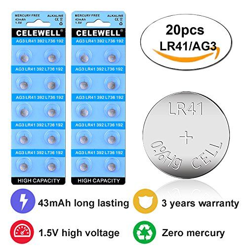 Celewell 43mah Lr41 Ag3 Watch Toy Led Battery With 3 Years Warranty As 392 384 Laser Pointer 1 5v Alkaline Coin Button Laser Pointer Button Cell Lead Batteries