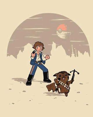 Mashup Pokémon/Star Wars: Ash Solo y Chewchu